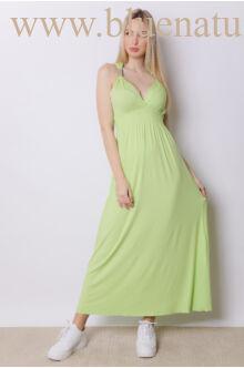 Fémdíszes maxi ruha ADRIA - Almazöld