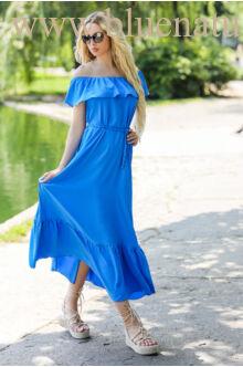 Fodros maxi ruha - PEGGI - Kék