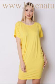 Hátul keresztpántos ruha - DÖNIZ - Sárga
