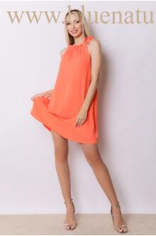 Nyakban megkötős A-vonalú bő ruha GLORIA - Narancs