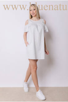 Ujján fodros bő ruha - BABA - mintás