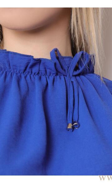Húzott nyakú felső - TERESA - Kék