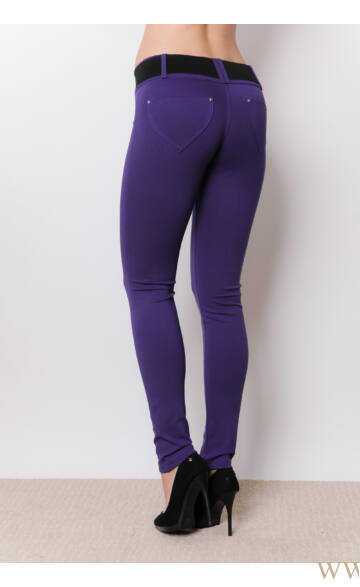 Öves puntó nadrág (elasztikus) - Lila