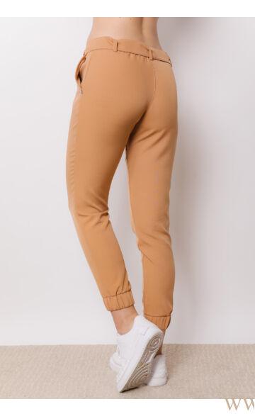 Megkötős laza vonalú nadrág - AMY - Camel