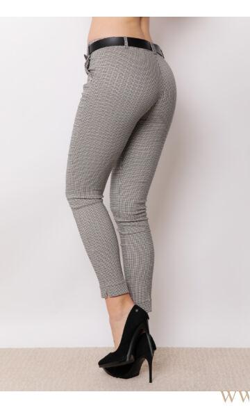 Öves bengalin nadrág (elasztikus) - ALINA - Apró kockás
