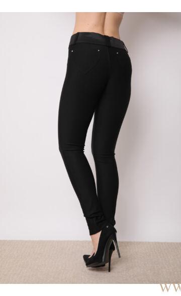 Öves diagonál nadrág - Fekete