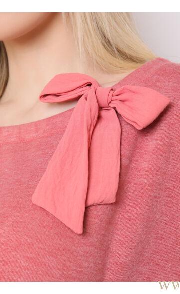 Masnival díszített kötött ruha - LETTI - Puncs