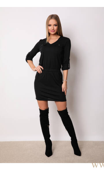 Zsebbel díszített ruha - ONLY - Fekete