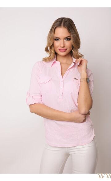 Három patentos ing 3/4-es - Rózsaszín
