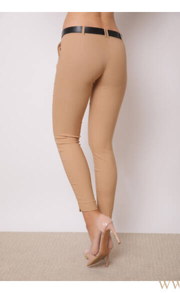 Bengalin Nadrág öves (elasztikus) ALINA - barna