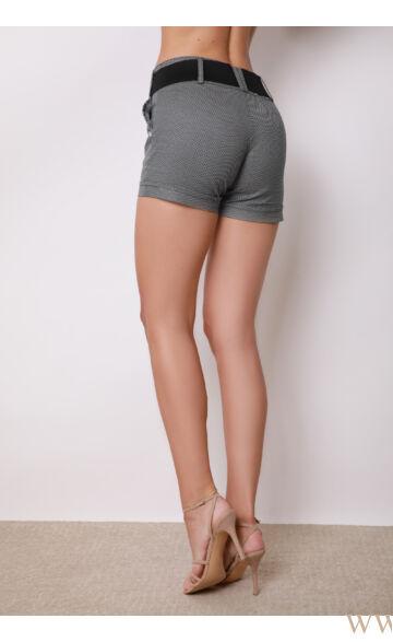 Short Bengalin Nadrág (elasztikus) ALINA - Fekete/fehér pöttyös