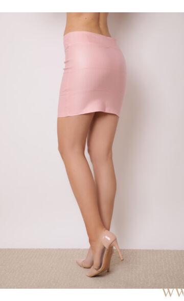 Bőrhatású miniszoknya - KENT - Rózsaszín