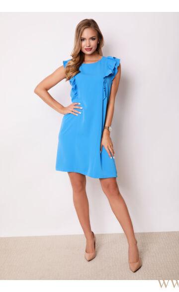 Fodorral díszített ruha - AMORE - Kék