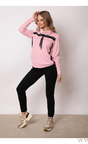 Garbós sportos szett - KOZETT - Rózsaszín