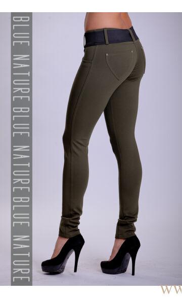 Öves puntó nadrág (elasztikus) - Khaki