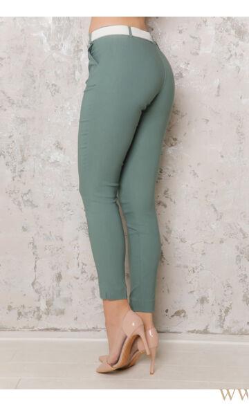 Bengalin Nadrág öves (elasztikus) ALINA - Sötét zöld