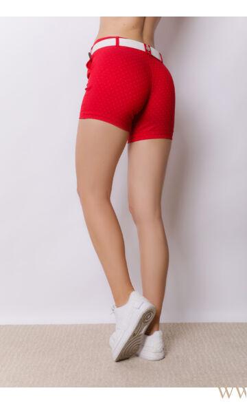 Bengalin Short (elasztikus) - ALINA - piros/pöttyös
