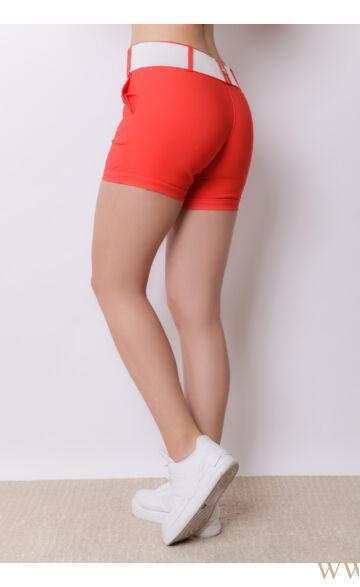 Bengalin Short Széles Derékpánttal(elasztikus) - ALINA - Corall