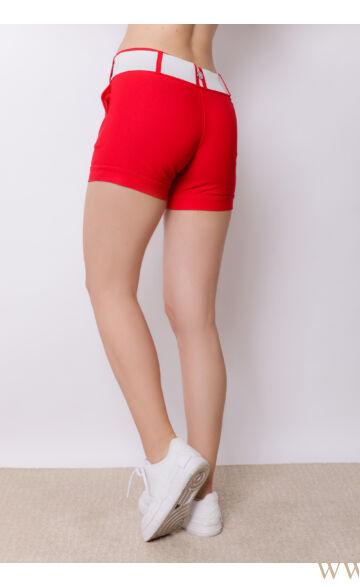 Bengalin Short Széles Derékpánttal(elasztikus) - ALINA - Piros