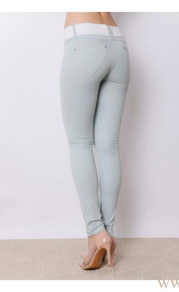 Öves puntó nadrág (elasztikus) - Menta