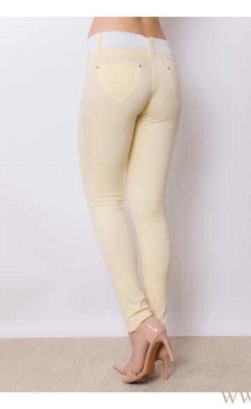 Öves puntó nadrág (elasztikus) - Sárga