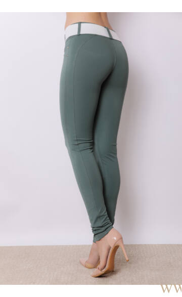 Hátul íves nadrág - Sötét zöld
