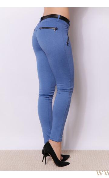 Négy cippzáras nadrág SISI - Kék