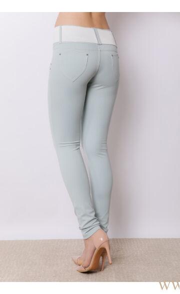 Széles derékpántú puntó nadrág (elasztikus) - Menta