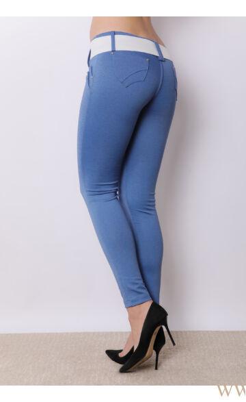 Vágott zsebű puntó nadrág - Kék