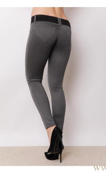 Öves puntó nadrág (elasztikus) - Grafit szürke