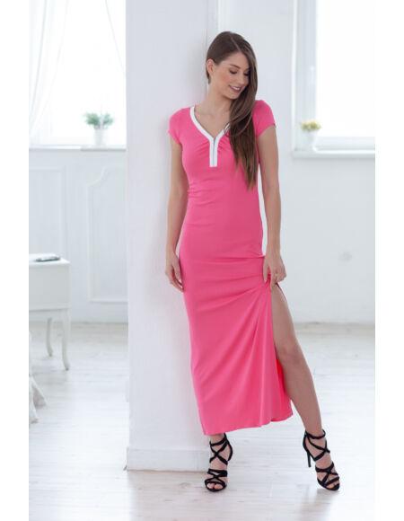 a8ae4186ba elol_zipzaros_maxi_ruha_pink_m_blue_nature · Elöl cipzáros Maxi ruha ...