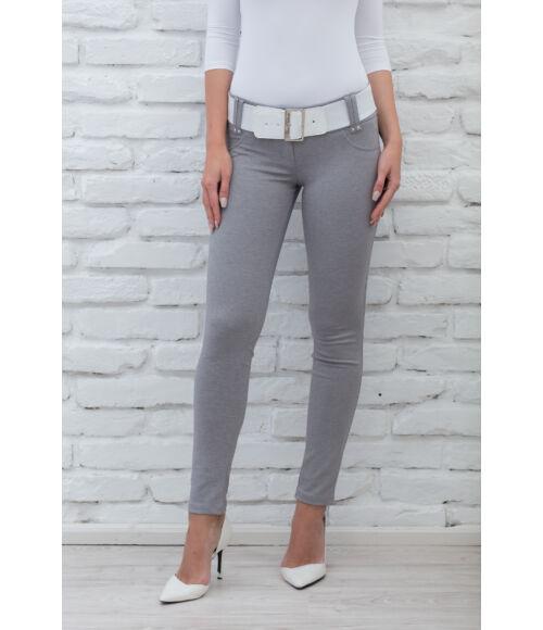 Öves puntó nadrág (elasztikus) szürke