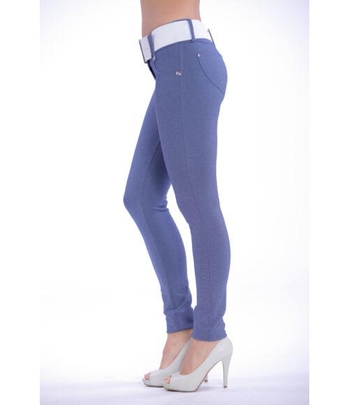 Öves puntó nadrág (elasztikus) - farmerkék