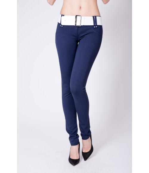 Öves puntó nadrág (elasztikus) - sötétkék