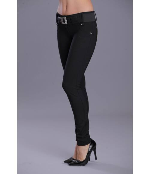 Öves puntó nadrág fekete tűpöttyös