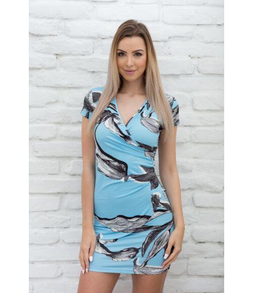 Átlapolt mintás ruha
