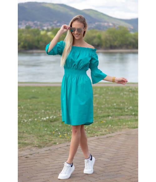 gumirozott_ruha_miami_blue_nature_menta_zold