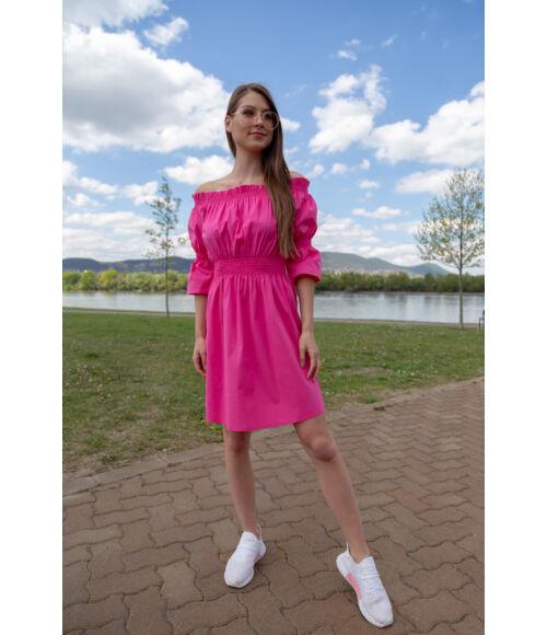 gumirozott_ruha_miami_blue_nature_pink