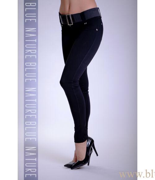 Öves puntó nadrág (elasztikus) fekete