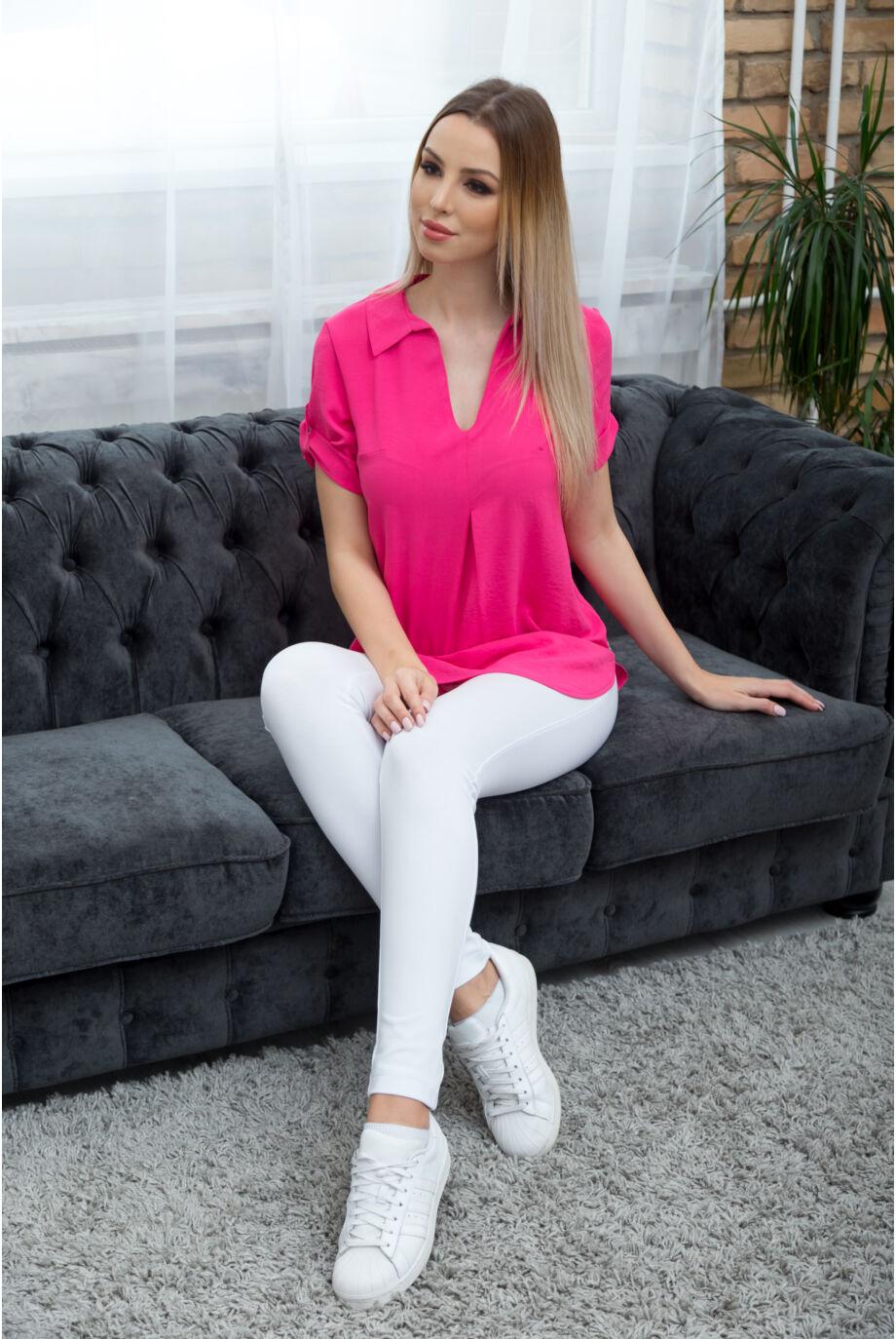 Galléros nyári tunika TEKLA - pink