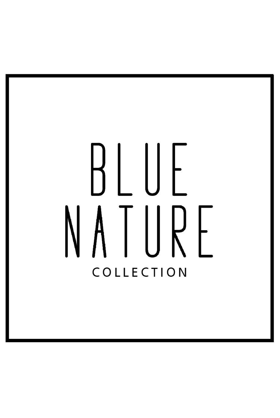 Csíkos bő szabású tunika Ilena - kék/fehér