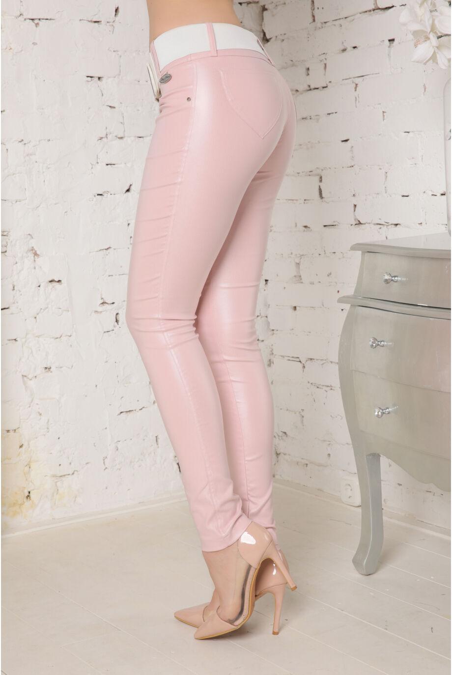Kent bőrhatású nadrág - Púder