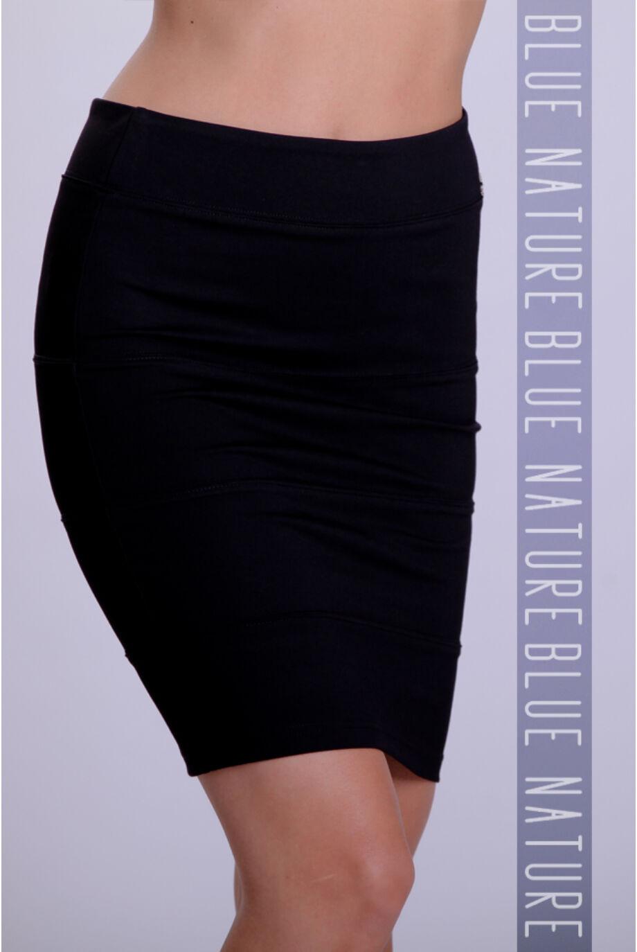 Puntó térdszoknya (elasztikus) fekete